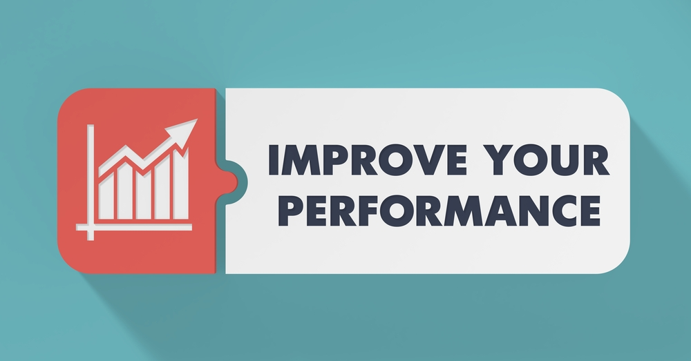 Improve Your Performance Concept in Flat Design with Long Shadows.